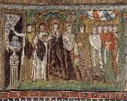 unknow artist The Empress Theodora and Her Court oil painting picture wholesale