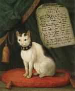 unknow artist Portrait of Armellino the Cat with Sonnet oil painting picture wholesale