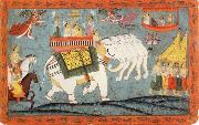 unknow artist Celestial Procession with Indra Riding His Elephant oil painting picture wholesale