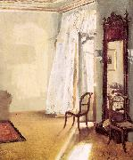 Adolph von Menzel The French Window oil