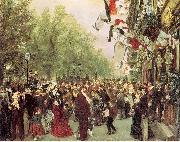 Adolph von Menzel William I Departs for the Front, July 31, 1870 oil painting picture wholesale