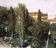 Adolph von Menzel The Palace Garden of Prince Albert oil