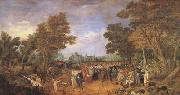 Adriaen van de Venne Allegory of the Truce of 1609 Between the Archduke of Austria (mk05) oil painting