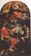 Annibale Carracci The VIrgin Appearing to ST Luke and ST Catherine (mk05) oil