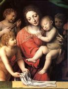 Bernadino Luini The Virgin Carrying the Sleeping Child with Three Angels (mk05) oil