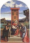 CARACCIOLO, Giovanni Battista The Virgin and Child between John the Baptist and Mary Magdalen (mk05) oil painting picture wholesale
