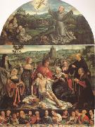 CLEVE, Joos van The Lamentation of Christ with the Last Supper(predella) and Francis Receiving the Stigmata(mk05) oil painting picture wholesale