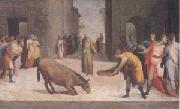 Domenico Beccafumi St Anthony and the Miracle of the Mule (mk05) oil painting artist