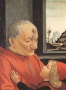 Domenico Ghirlandaio Portrait of an Old Man with a Young Boy (mk05) oil