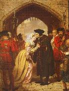 Edward Matthew Ward Sir Thomas More's Farewell to his Daughter oil