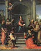 Fra Bartolommeo The Annunciation with Saints Margaret Mary Magdalen Paul John the Baptist Jerome and Francis (mk05) oil painting artist