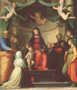 Fra Bartolommeo The Mystic Marriage of st Catherine of Siena,with Eight Saints (mk05) oil painting artist