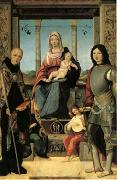 Francesco Marmitta The Virgin and Child with Saints Benedict and Quentin and Two Angels (mk05) oil painting picture wholesale