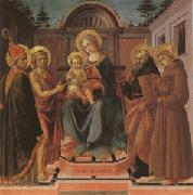 Francesco di Stefano called Pesellino The Virgin and Child Surrounded (mk05) oil painting artist