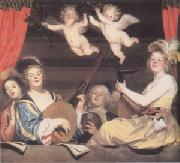 Gerrit van Honthorst The Concert (mk05) oil painting picture wholesale