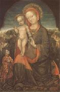 Jacopo Bellini THe Virgin and Child Adored by Lionello d'Este (mk05) oil painting picture wholesale