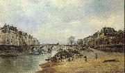 Lepine, Stanislas Quais of the Seine oil painting artist