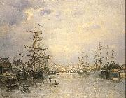 Lepine, Stanislas The Port of Caen oil painting artist