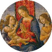 Mainardi, Sebastiano Virgin Adoring the Child with Two Angels oil painting artist