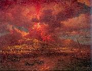 Marlow, William Vesuvius Erupting at Night oil painting picture wholesale