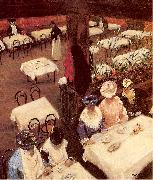 Maurer, Alfred Henry In a Cafe oil painting picture wholesale
