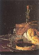 Melendez, Luis Eugenio Still-Life with a Box of Sweets and Bread Twists oil painting picture wholesale