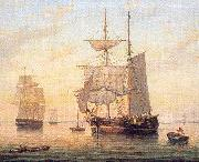Mellen, Mary Blood Taking in Sails at Sunset oil painting reproduction