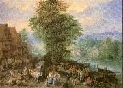 Michau, Theobald Peasants at the Market oil painting artist