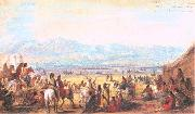 Miller, Alfred Jacob Encampment on Green River oil painting artist