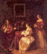 NETSCHER, Caspar Musical Company oil painting artist
