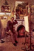 Narjot, Ernest Self-Portrait in the Artist's Studio oil painting artist