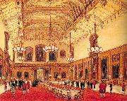 Nash, Joseph The Waterloo Chamber, Windsor Castle oil painting