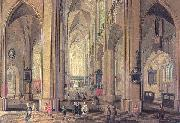 Neeffs, Peter the Elder Interior of the Cathedral at Antwerp oil painting artist