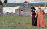 Nesterov, Mikhail In Small and Secluded Convents oil painting artist