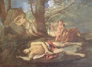 Nicolas Poussin E-cho and Narcissus (mk05) oil painting reproduction