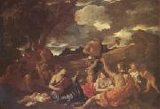 Nicolas Poussin The Andrians Known as the Great Bacchanal with Woman Playing a Lute (mk05) oil painting picture wholesale