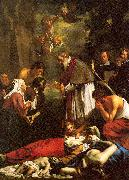 Oost, Jacob van the Younger St. Macaire of Ghent Tending the Plague-Stricken oil painting picture wholesale