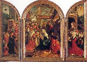 Oostsanen, Jacob Cornelisz van Tryptych with the Adoration of the Magi, Donors, and Saints oil painting picture wholesale