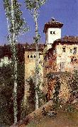 Ortega, Martin Rico y The Ladies' Tower in the Alhambra, Granada oil painting picture wholesale