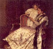 Osborne, Walter Mrs. Noel Guinness and her Daughter, Margaret oil painting artist