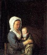 Ostade, Adriaen van Woman Holding a Child in her Lap oil painting picture wholesale