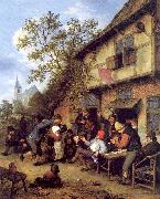 Ostade, Adriaen van Merrymaking Outside an Inn oil painting picture wholesale