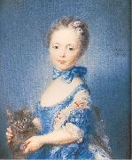 PERRONNEAU, Jean-Baptiste A Girl with a Kitten oil painting picture wholesale