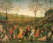 PERUGINO, Pietro The Combat of Love and Chastity oil painting picture wholesale