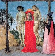 PERUGINO, Pietro St. Jerome Supporting Two Men on the Gallows oil painting picture wholesale