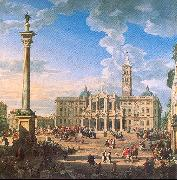 Panini, Giovanni Paolo The Plaza and Church of St. Maria Maggiore oil painting picture wholesale