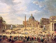 Panini, Giovanni Paolo Departure of Duc de Choiseul from the Piazza di St. Pietro oil painting picture wholesale