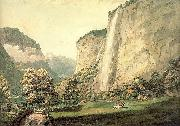 Pars, William The Valley of Lauterbrunnen and the Staubbach oil painting artist