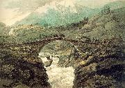 Pars, William Bridge near Mount Grimsel oil painting artist