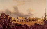 Paul, John View of Old London Bridge as it was in 1747 oil painting artist